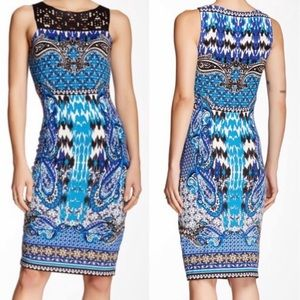Hale Bob Cocktail Boho Print Dress